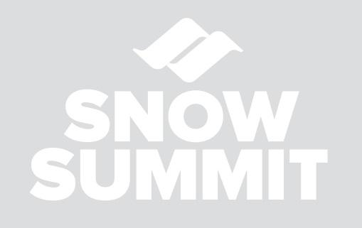 White Snow Summit Logo Sticker