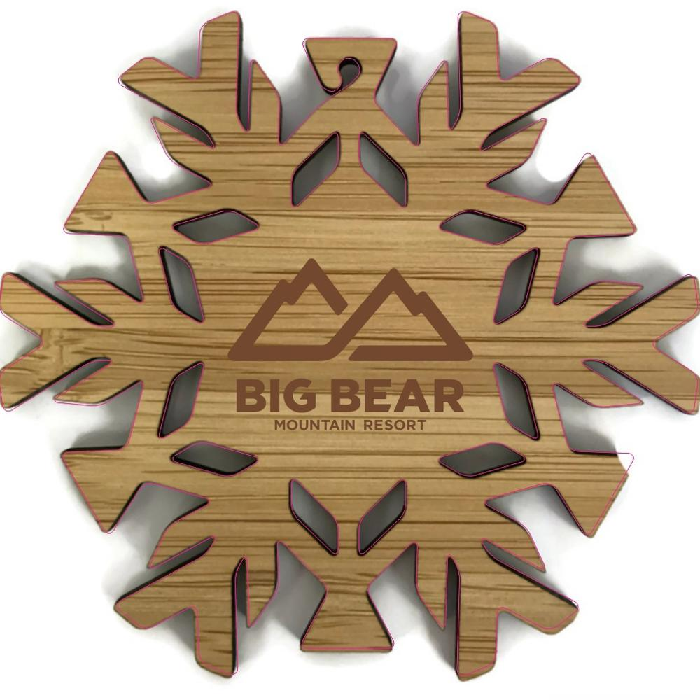 Big Bear Mountain Resort Snowflake Ornament