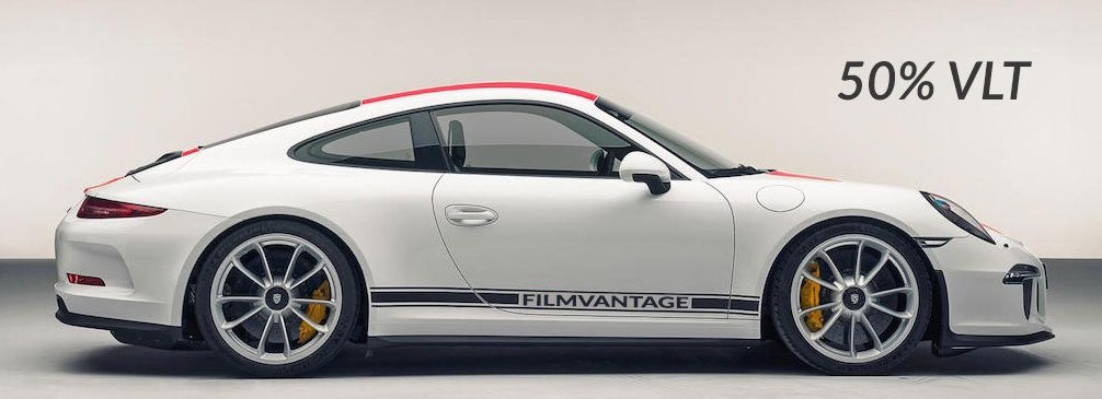 Filmvantage Black Box Automotive Window Tinting Film 50% Shade