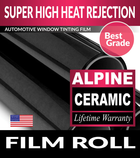 Alpine Ceramic Window Tint Film UnCut Roll For Automotive Tinting