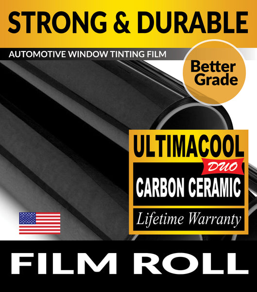 UltimaCool DUO Carbon Ceramic Window Tint Film UnCut Roll For Automotive Tinting