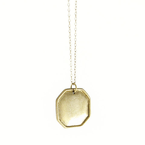 Square Hexagonal Ridged Pendant