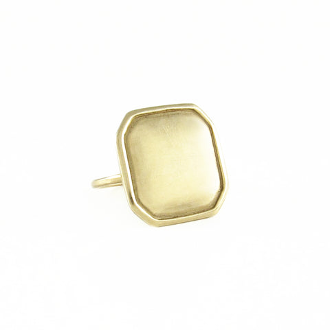 Square Hexagonal Ridged Ring