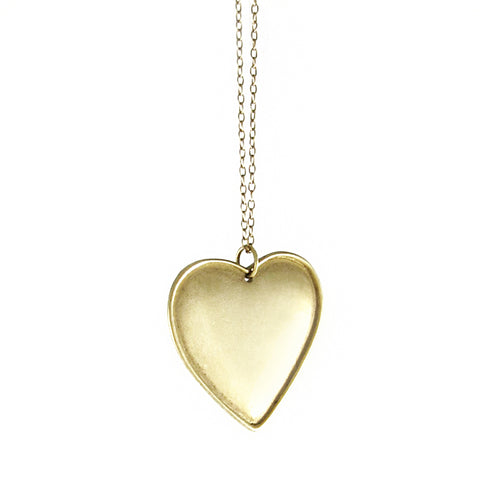 Large Ridged Heart Pendant