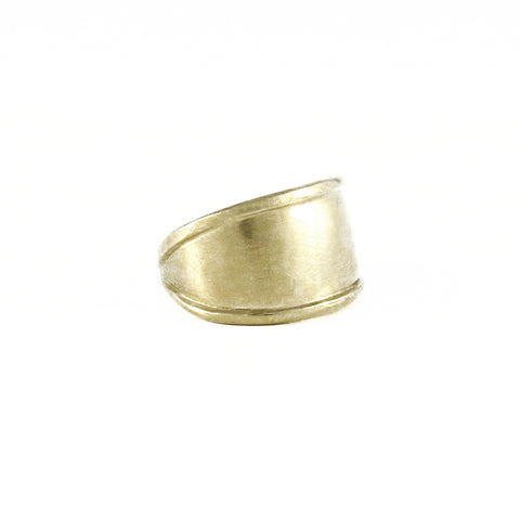 Large Ridged Cuff Ring