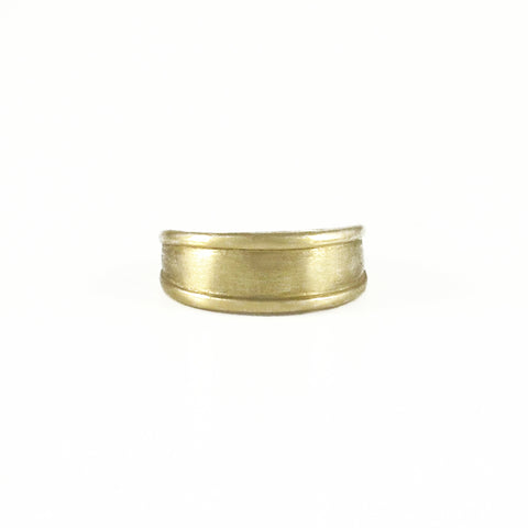 Small Ridged Cuff Ring