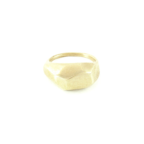 Large Faceted Dome Ring