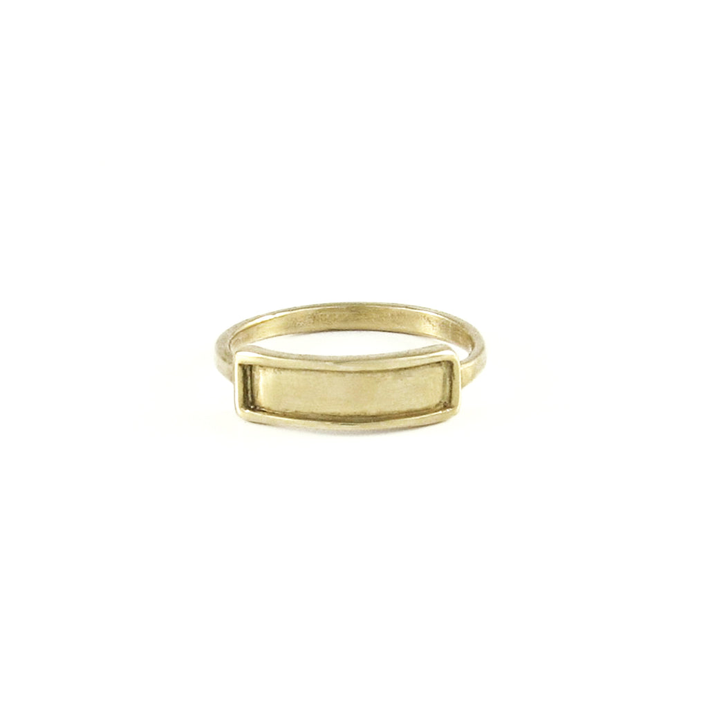 Tiny Ridged Rectangle Ring