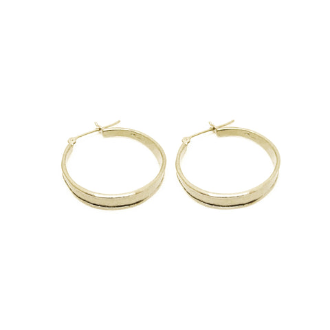 Large Ridged Hoops