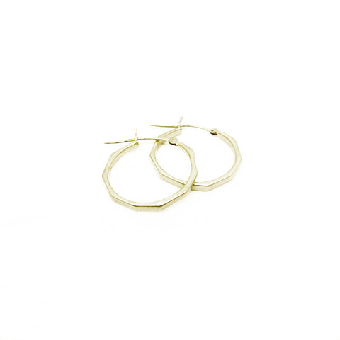 Skinny Faceted Hoops