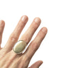 Large Oval Ridged Ring