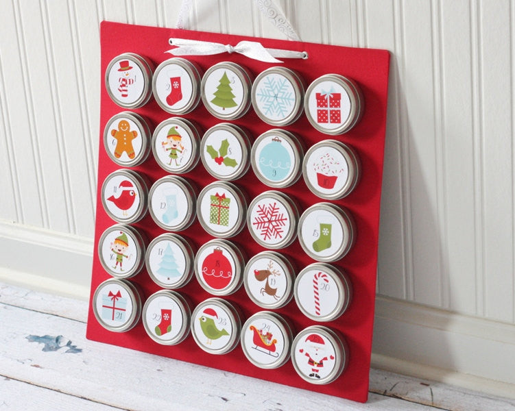 Christmas Advent Calendar with Magnet Board Square 1