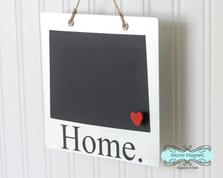 Colorado State Silhouette Home Chalkboard Sign with Heart Magnet - Medium size