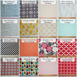 Pick Your Own Fabric - Narrow Message Center Magnet Board with closed pocket