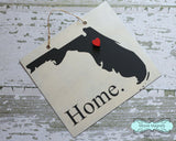Florida State Silhouette Home Chalkboard Sign with Heart Magnet - Medium size