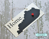 Kentucky State Silhouette Home Chalkboard Sign with Heart Magnet