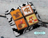 Woodland Animals Magnet Set of 4 - Woodland Animals Hedgehog Squirrel Deer Fox 004