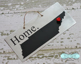 Tennessee State Silhouette Home Chalkboard Sign with Heart Magnet - Medium size