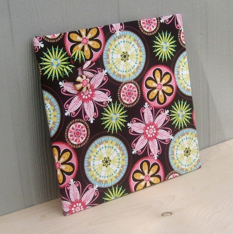magnet-board-12inx12in-no-frame-michael-miller-carnival-bloom-fabric-teen-memory-board