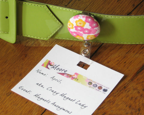 badge reel id holder customized pick from many designs