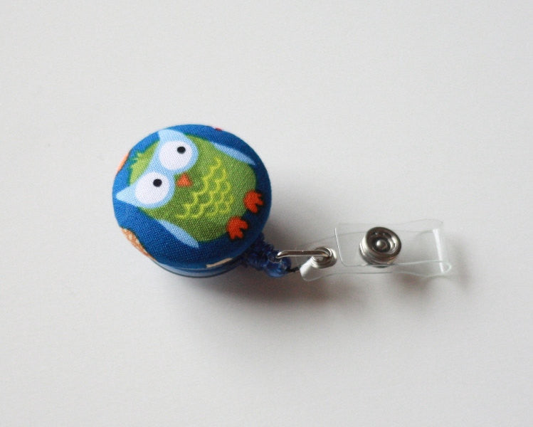 badge reel id holder cubby little owl