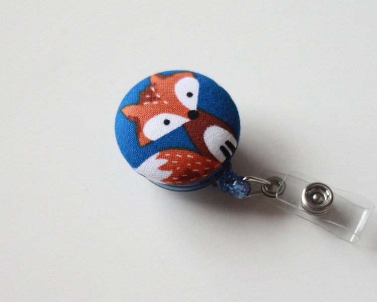 badge reel id holder little fox