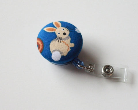 badge reel id holder little bunny