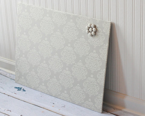 wall-mount-magnet-board-18-inch-x-24-inch-no-frame-beige-ribbon-damask