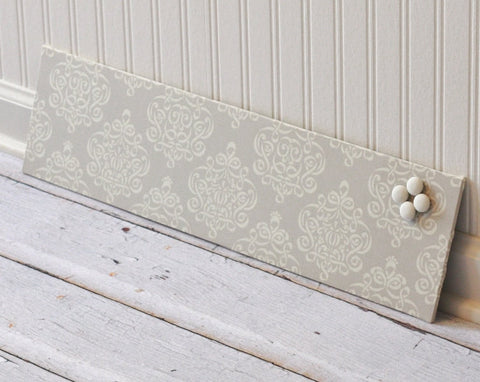wall-mount-magnet-board-6inx24in-no-frame-ribbon-damask-fabric