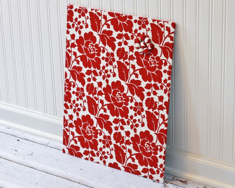 fabric-covered-magnet-board-16-inch-x-20-inch-red-floral-on-ivory
