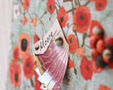 fabric-covered-magnetic-bulletin-board-16-inch-x-20-inch-covered-in-poppies-on-greenish-gray