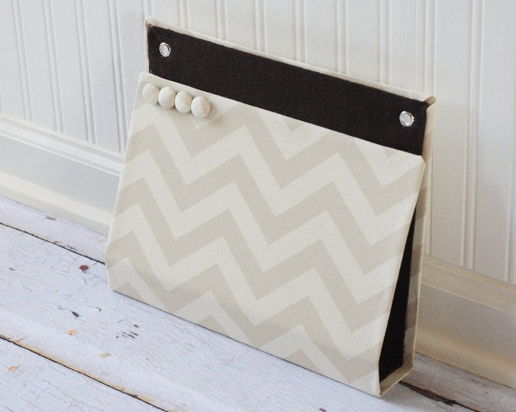 large-wall-pocket-magnet-board-file-and-mail-holder-beige-chevron