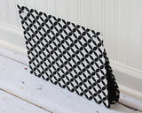 large-wall-organizer-pocket-magnet-board-file-and-mail-holder-black-and-white-circled-diamonds-fabric