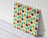 magnetic-bulletin-board-16inx16in-no-frame-apples-and-pears-fabric