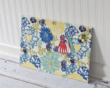 wall-mount-magnet-board-12inx18in-no-frame-blue-and-yellow-floral-fabric