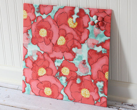 fabric-covered-magnet-board-16-inch-x-16-inch-covered-in-poppies-on-light-blue