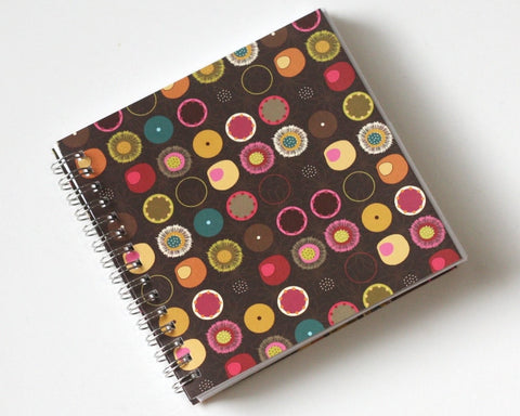 Small Coupon Organizer with 14 Pockets - Pre Printed Labels Included - Brown with Colorful Circles