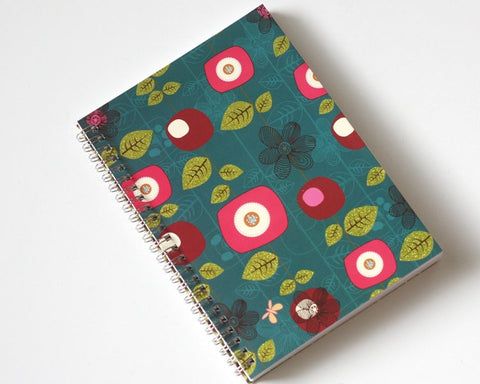 Large Coupon Organizer with 14 Pockets - Pre Printed Labels - Teal with Flowers
