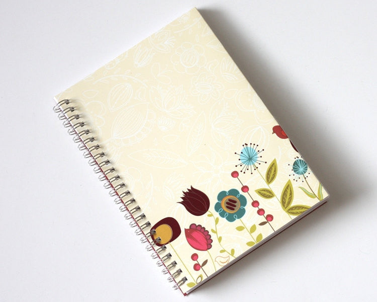 Large Coupon Organizer with 14 Pockets - Pre Printed Labels Included - Tan with Flowers