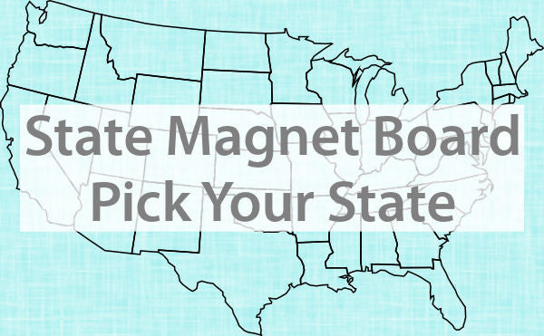 State Silhouette Magnet Board - Pick your state