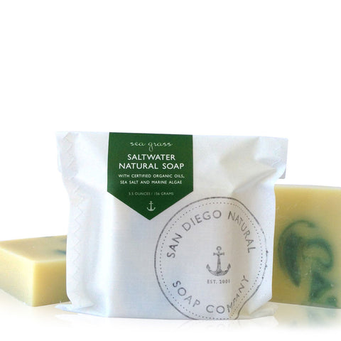 Sea Grass Organic Saltwater Soap with Algae