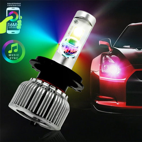 Rgb Bluetooth Led Headlight Kit Led Guys