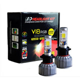 Low & High Beam Headlights - RGB Color Changing - H13