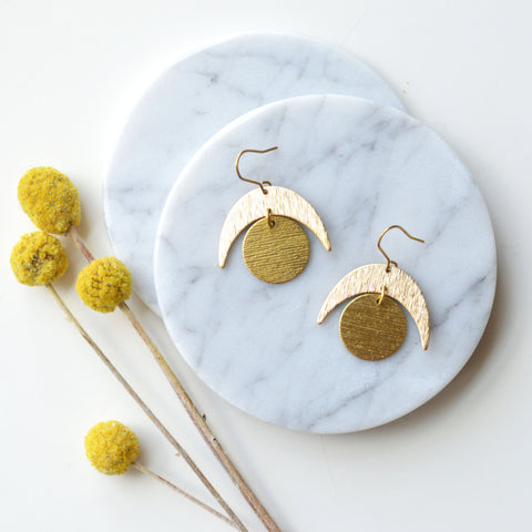 Crested Moon Earring