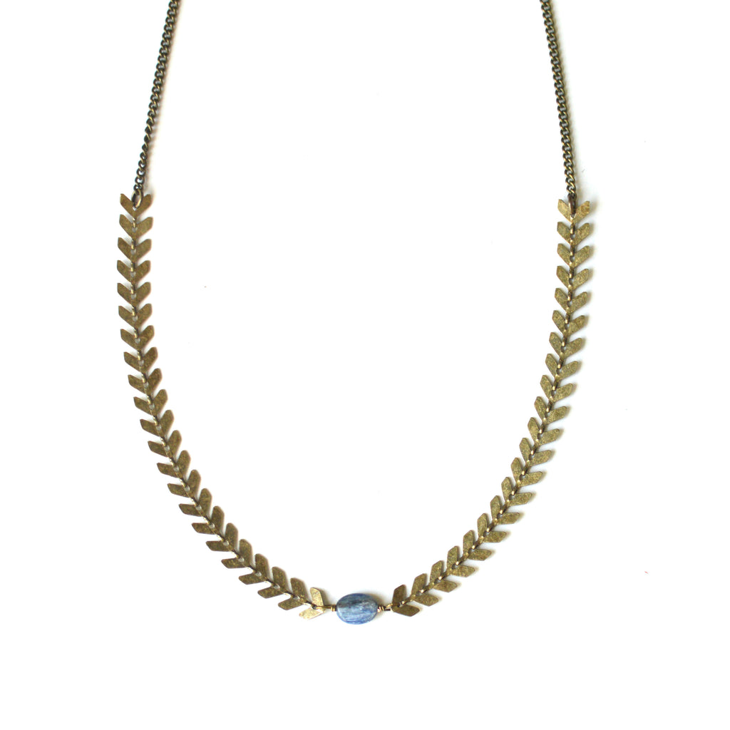 Kyanite Chevron Chain Choker