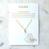 Quartz Healing Necklace [Light}