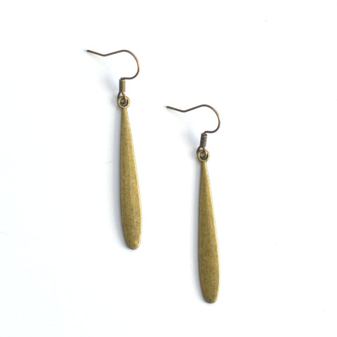 Antique Brass Drop Earrings