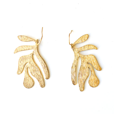 Abstract Leaf Earrings