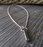 Simple bar necklace handcrafted in sterling silver
