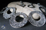 Chunky sterling silver handmade statement necklace Renaissance